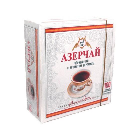 Азерчай черный байховый с ароматом бергамота 100 пакетиков