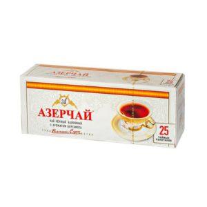 Азерчай черный байховый с ароматом бергамота 25 пакетиков