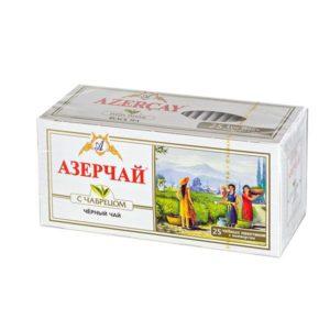 Азерчай черный байховый с чабрецом 25 пакетиков