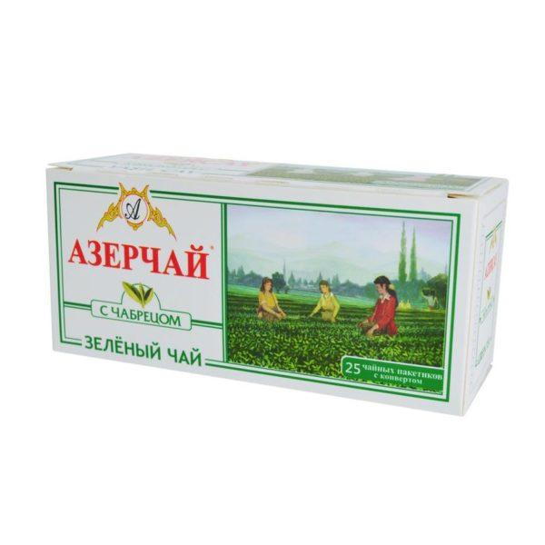 Азерчай зелёный с чабрецом 25 пакетиков